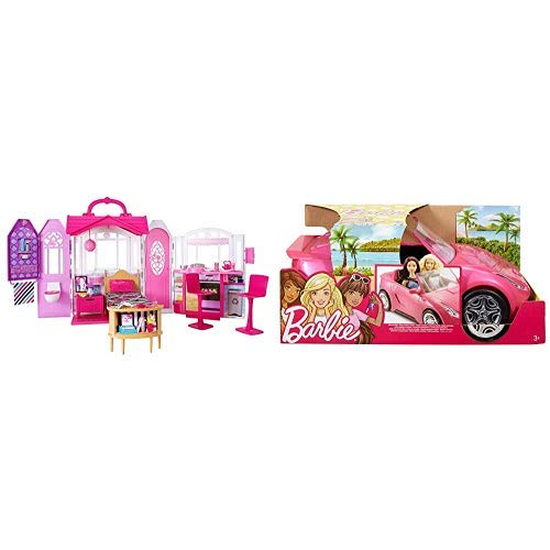 Barbie Glam Getaway House [Amazon Exclusive] AND Barbie Glam Convertible