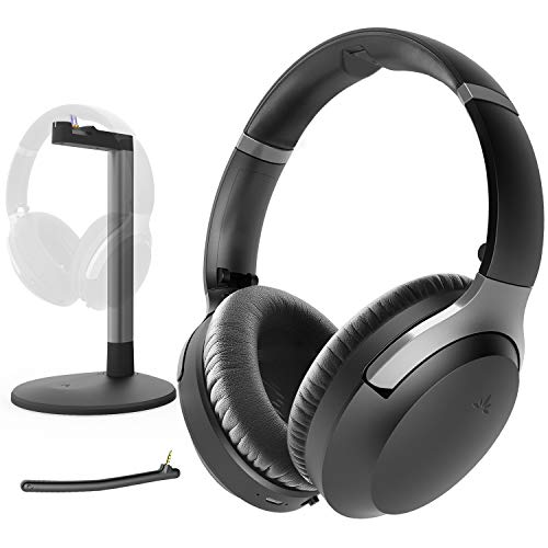 Avantree Aria Me Personalized Noise Cancelling Wireless Bluetooth Headphones with Charging Stand, aptX HD, Low Latency, Clear Voice & Enhanced Volume, Ideal for Seniors & Hearing Impaired, TV Phone