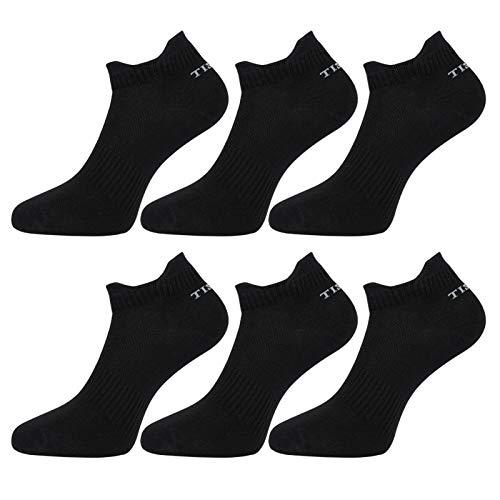 Tisoks 6 Pairs Black Mens and Womens Titanium Anti Odor Sports Ankle Socks for Athletes Feet