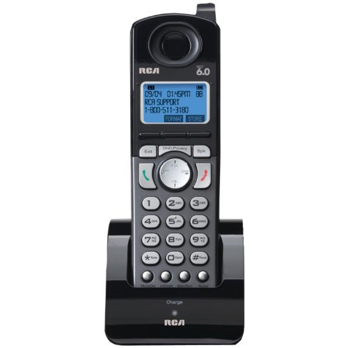 RCA 25055RE1 DECT 6.0 Cordless 2-Line Handset Accessory for RCA 2-Line Base Station (Handset Does Not Work Independently),Black