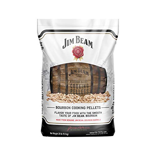 Ol' Hick Cooking Pellets Genuine Jim Beam Bourbon Barrel Grilling Smoker Cooking Pellets, 20 Pound Bag