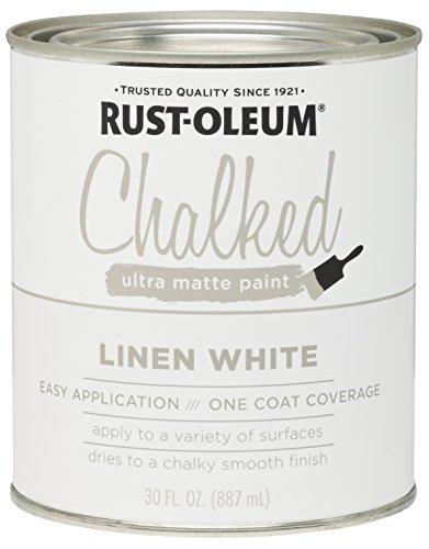 Rust-Oleum 285140 Ultra Matte Interior Chalked Paint 30 oz, 30oz Can, Linen White