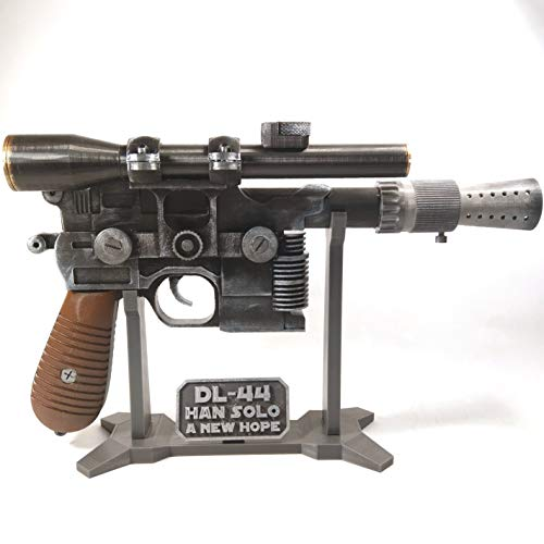 Han Solo DL-44 Blaster with Stand - Star Wars Prop Cosplay Handmade