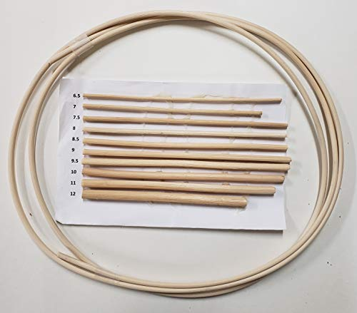 Spline for Cane Chairs, Any Size #6.5 to #12, Price is per 6' Length (8)