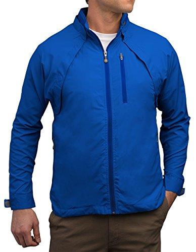 SCOTTeVEST Tropiformer Jacket - Rain Jackets Men, Travel Clothing, Windbreaker Blue
