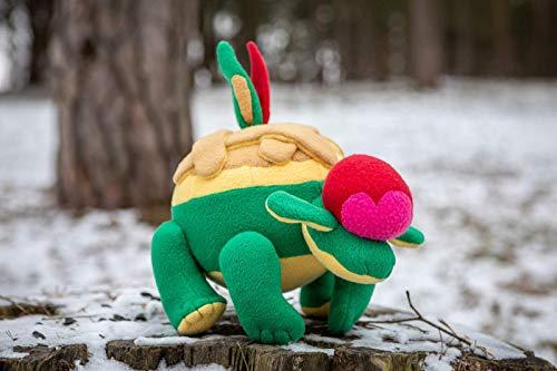 Appletun Pokemon plush - handmade Appletun plush - soft toy - 14.5x10 in MADE TO ORDER