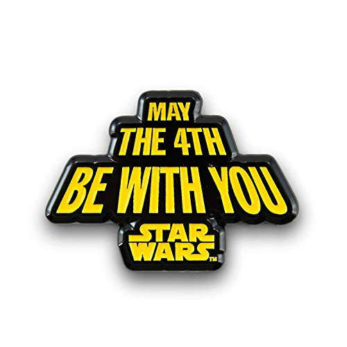 Star Wars May The Fourth Be with You Pin | Enamel Star Wars Collector Pin | Fun May 4th Star Wars Accessory