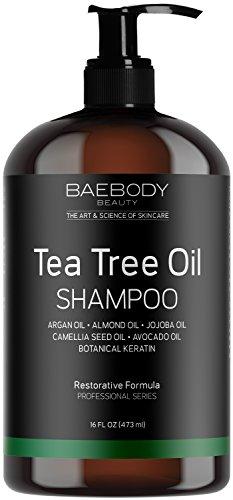 Baebody Tea Tree Oil Shampoo for Dandruff, Dry Hair & Itchy Scalp, 16 Ounces