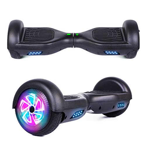 YHR 6.5' Hoverboard LED Lights Smart Self Balancing Hoverboard and Two-Flashing Wheel with UL2272 Certified for Kids and Adults