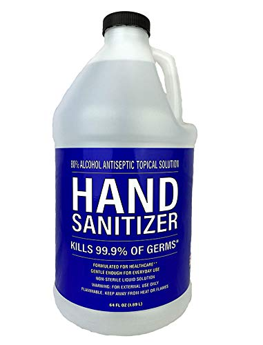 Hand Sanitizer 80% Alcohol Antiseptic Topical Solution