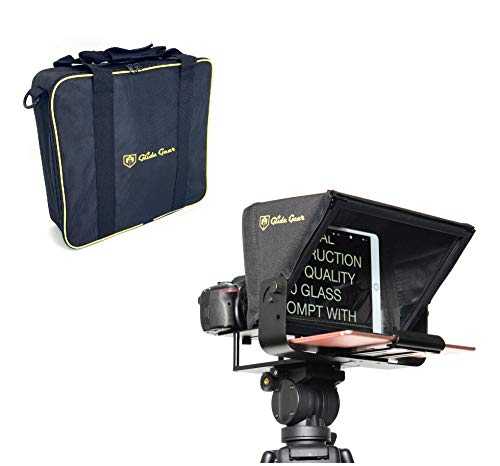 Glide Gear TMP100 Adjustable iPad/ Tablet/ Smartphone Teleprompter Beam Splitter 70/30 Glass w/ Carry Case No Plastic All Metal / No Assembly Required