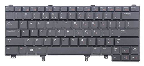 Laptop Backlit Keyboard (Without Pointer) Replacement for Dell Latitude E6420 ATG E6420 XFR E6430 ATG E6430s XT3, US Layout Black Color