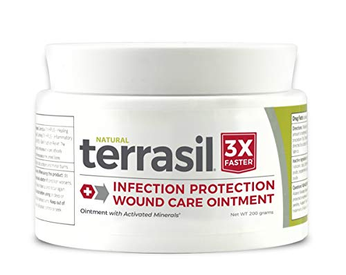 Terrasil Wound Care Ointment - 3X Faster Healing; Natural Infection Protection for Bed Sores, Pressure Sores, Diabetic Wounds, Foot and Leg Ulcers, Cuts, Scrapes, Burns -200gm Jar