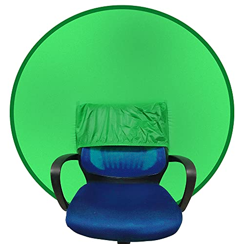 Portable Webcam Background Green Background Screen Portable 43'/110cm for Photo Video Studio,Collapsible Background,Single-Side Chromakey Green Screen for Chair