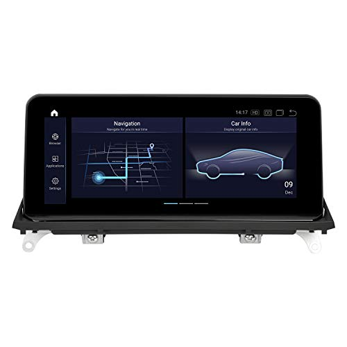 PEMP 2021 Vertical Screen Style X5 X6 Android 10.0 Head Unit 10.25 inch IPS Touch HD Screen Qualcomm 8-core 4GB RAM 64GB ROM Car Android auto Play for BMW E70 E71 (2010-2012) CIC