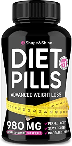 Weight Loss Pills - Diet Pills That Work Fast for Women & Men - Made in USA - Safe Dietary Supplements with Garcinia Cambogia for Weight Loss - Fat Burner & Appetite Suppressant Pills
