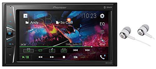 Pioneer 6.2' VGA Touchscreen WebLink Double DIN, Bluetooth USB MP3 Aux Input, in-Dash Siri Eyes Free & Google VR, Multi-Color Illumination Digital Media Receiver/Free Alphasonik Earbuds