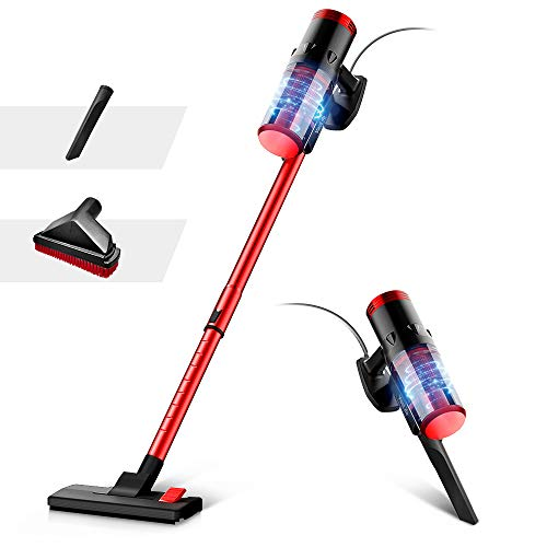 VacLife Stick Vacuum Cleaner - Corded 2 in 1, 4 Stages Filtration Powerful Vacuum Cleaner for Pet Hair with Washable HEPA Filter, Lightweight Vacuum with 3 Practical Tools for Hard Floor
