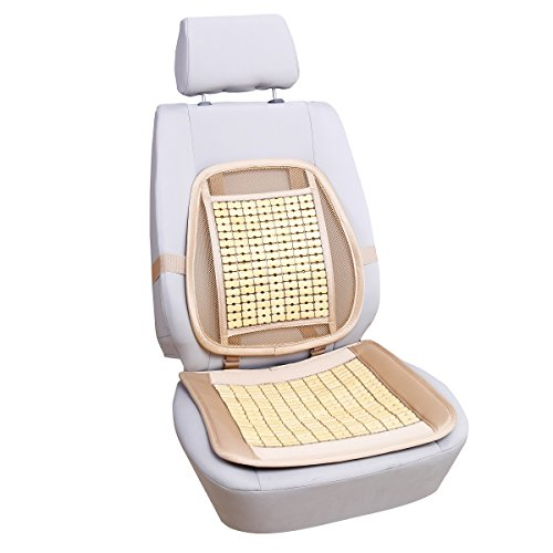 Qbedding Soothing Drive Bamboo Car/Chair Seat Lumbar Support (Single Piece)