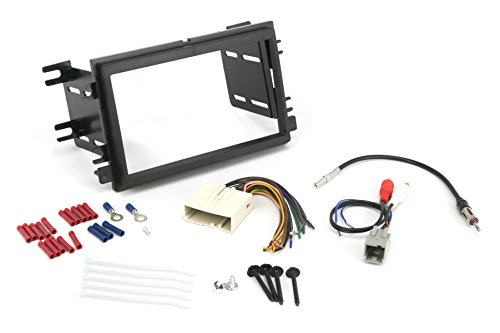 SCOSCHE Install Centric ICFD6BN Ford/Lincoln/Mercury 2004-08 Double DIN, Premium Sound Complete Installation Solution for Car Stereos