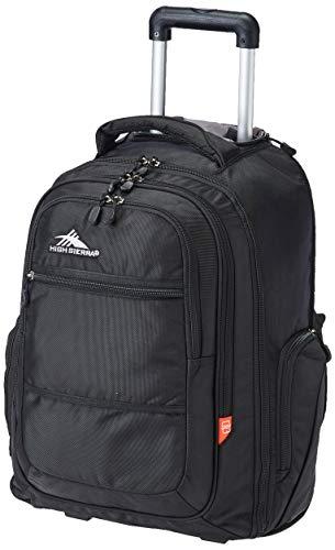 High Sierra Rev Rolling Backpack, Black, One Size