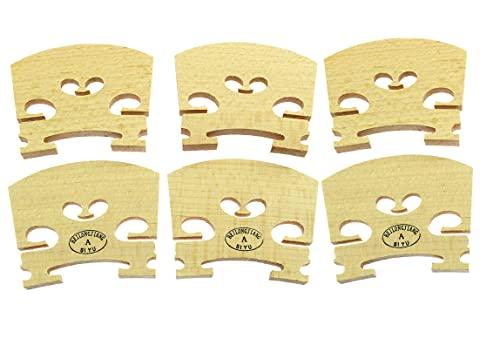 Longdex Violin Bridge 6PCS 4/4 Full Size Violin Bridge Maple High Qualit Violin Parts