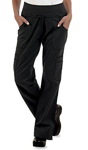 ChefUniforms.com Womens Stretch Yoga Cargo Chef Pant,Black,X-Large