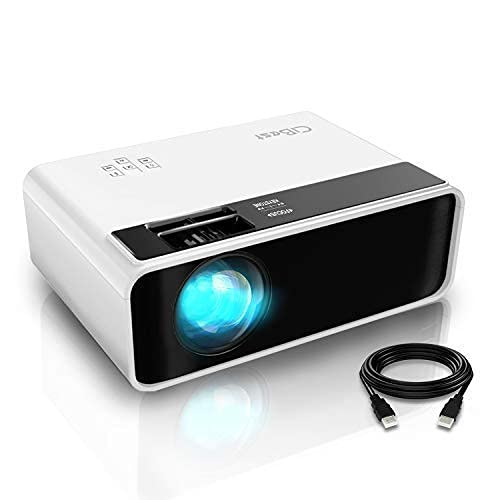 Mini Projector, CiBest Video Projector Outdoor Movie Projector 4500L, LED Portable Home Theater Projector 1080P and 200' Supported, Compatible with PS4, PC via HDMI, VGA, TF, AV and USB…