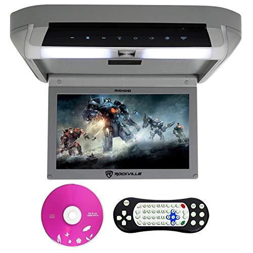 Rockville RVD10HD-GR 10.1' Flip Down Monitor DVD Player, HDMI, USB, Games, LED (RVD10HD-GR v2)