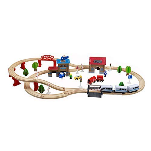 Wooden Electric Train Set – 88 Piece Train Set Battery Operated - Toys for Kids and Toddlers – Premium Quality Wood – Fun & Entertaining