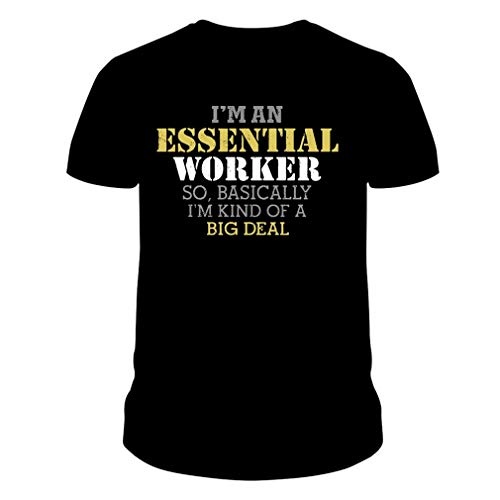 PAPCOOL I'€™m an Essential Worker So Basically I'€™m Kind of A Big Deal Shirt Unisex T-Shirt for Men Women Gift Tee