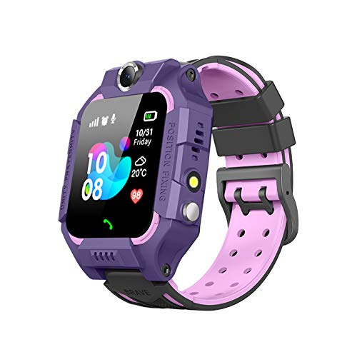 2020 Kids Smart Watches with GPS Tracker SOS Call Alarm Clock Camera Touch Screen Sport Intelligent Smartwatch HD Spy Safety Phone Watch, Suitable for 3+ Years Old (Purple)