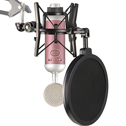 Blue Spark Shock Mount with Pop Filter, Windscreen and Shockmount to Reduce Vibration Noise Matching Mic Boom Arm for Blue Spark SL Microphone by YOUSHARES