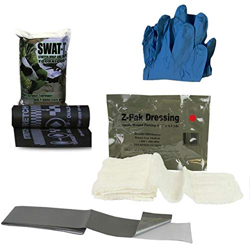 Pocket Trauma Kit, IFAK for Bleeding Control, Vacuum Sealed with Tear Notches, Compact with SWAT-T Tourniquet and Z-Fold Dressing by Rescue Essentials