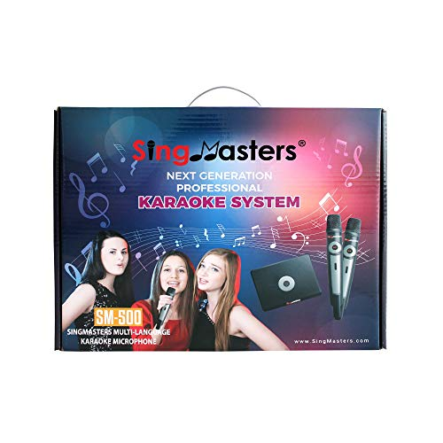 SingMasters Magic Sing English Karaoke Player,13,000+ English Songs,Dual wireless Microphones,YouTube Compatible,HDMI,Song recording,Karaoke Machine