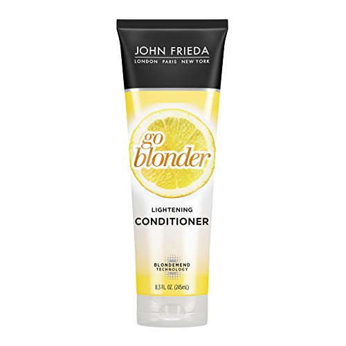 John Frieda, Conditioner Gradual Lightening Conditioner Ounce with featuring our BlondMend Technology, Sheer Blonde Go Blonder, Citrus and Chamomile, 8.3 Fl Oz