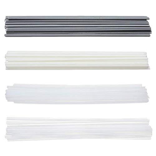 Matrisen 50PCS Plastic Welding Rods - ABS/PP/PVC/PE Plastic Welder Rods for Bumper Plastic Repair, (Beige/White/Grey/Translucent)