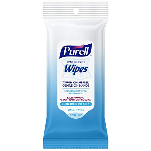 Purell Hand Sanitizing Travel Wipes Clean Refreshing Scent 20ct ( Pack of 3)