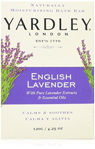 Yardley London English Lavender with Essential Oils Soap Bar, 4.25 oz Bar (Pack of 8)