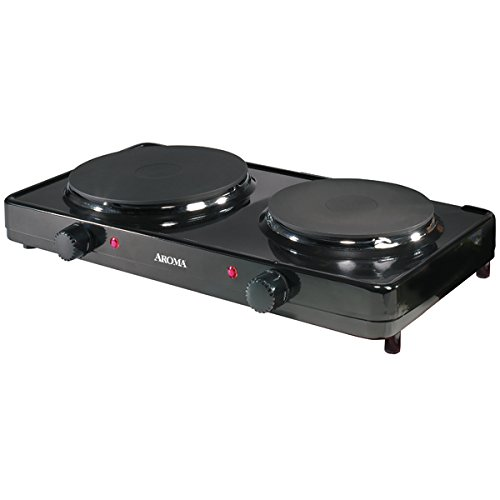 Aroma Housewares AHP-312 Double Hot Plate, Black