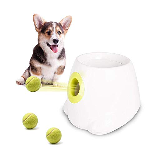 2Pcs Automatic Ball Launcher Dog Ball Thrower Machine Hyper Fetch Tennis Ball, The Launcher Features Make Independent Play Easy and Fun, and Feel Healthy and Happy