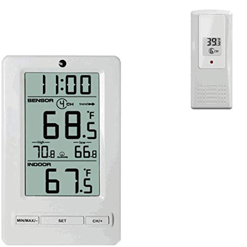 Ambient Weather WS-0802 8-Channel Wireless Thermometer with Min/Max Display