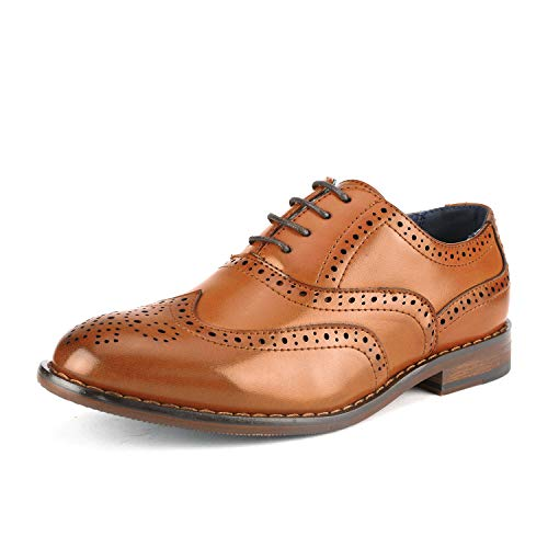 Bruno Marc Toddler Prince_K_2 Brown Boy's Classic Oxfords Dress Shoes Size 9 M US Toddler