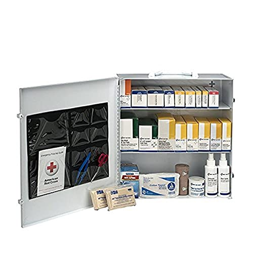 First Aid Only 100 Person 3 Shelf First Aid Steel Cabinet