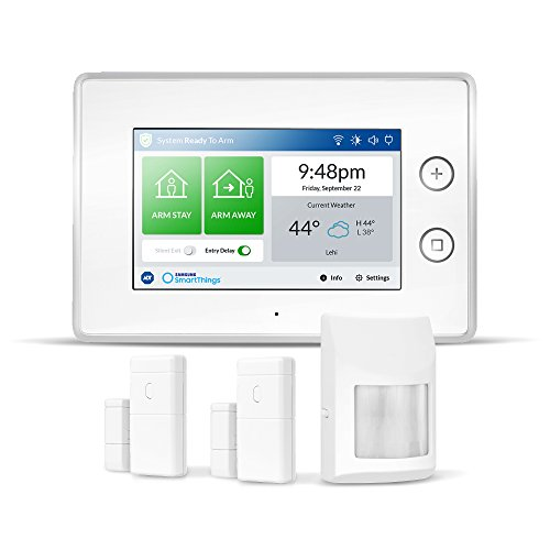 Samsung Electronics F-ADT-STR-KT-1 SmartThings ADT Wireless Home Security Starter Kit with DIY Smart Alarm System Hub, Door and Window Sensors, Motion Detector- Alexa Compatible, White