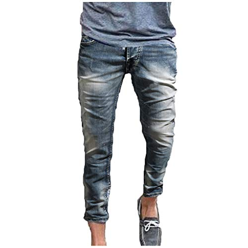 Slim Fit Jeans, Men's Younger-Looking Fashionable Colorful Super Comfy Stretch Skinny Fit Denim Jeans Gray