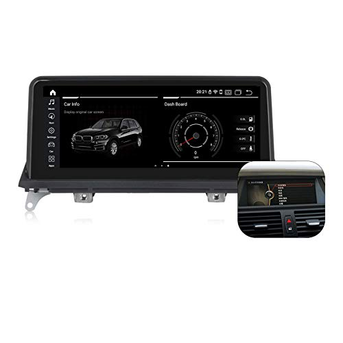 Qualcomm Android 10.0 Car Radio 8 Cores 4G RAM 64G ROM 10.25 inch Touch Screen Built-in CarPlay and Android Auto for BMW X5 E70 X6 E71 2007-2013 Original Head Unit CIC