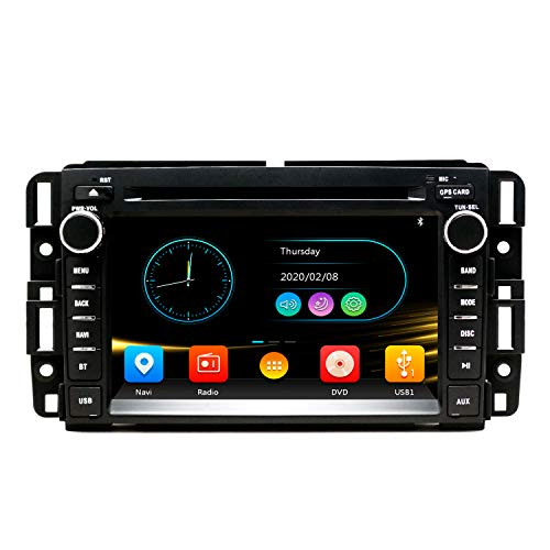 SWTNVIN Car Radio Stereo Fits for GMC Sierra Yukon Chevrolet Buick Chevy Silverado DVD Radio 2 Din 7 Inch Touch Screen Car Navigation Stereo with Bluetooth Mirror Link SWC CD USB SDCard