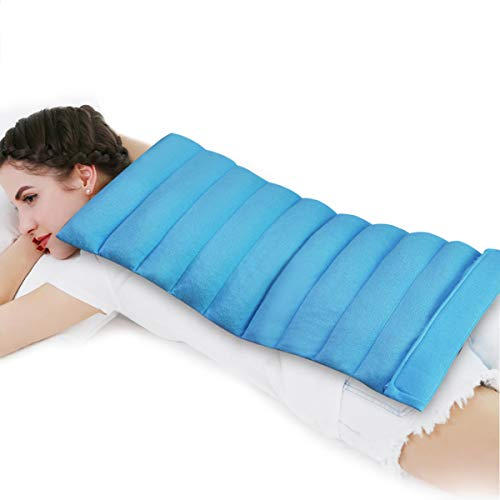 Relief Expert Extra Large Microwave Heating Pad Microwavable for Neck, Shoulders, Full Back, Cramps, Leg, Arm Pain Relief with Moist Heat Cold Therapy Wrap, Hands Free - 13'x24'