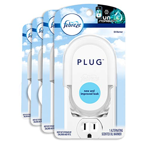 Febreze Plug In Air Freshener Scented Oil Warmer, 1 Count (Pack of 4) (Oil Not Included)